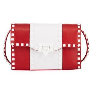 Valentino Garavani Free Rockstud Red White Bag